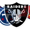 Oakland Raiders Tampa Bay Buccaneers and Tennessee Titans